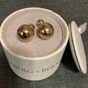 Hillberg & Berk reversable gold tone earrings.